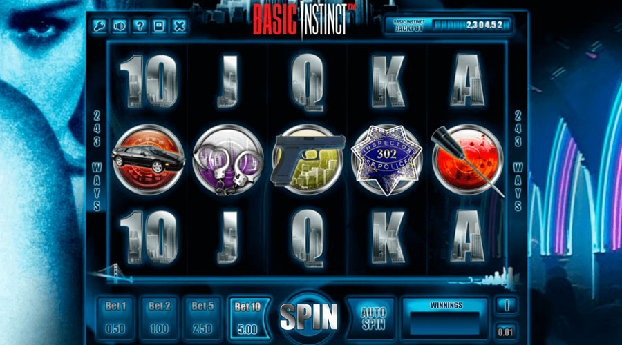 basic instinct australia pokies screenshot