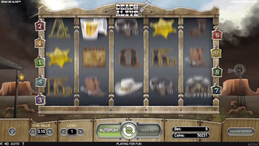 Dead or Alive Pokies on mobile